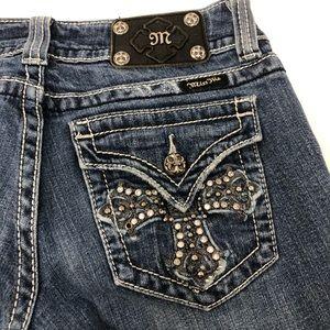 Miss Me JP5046SK Cross Pocket Embellished Jeans